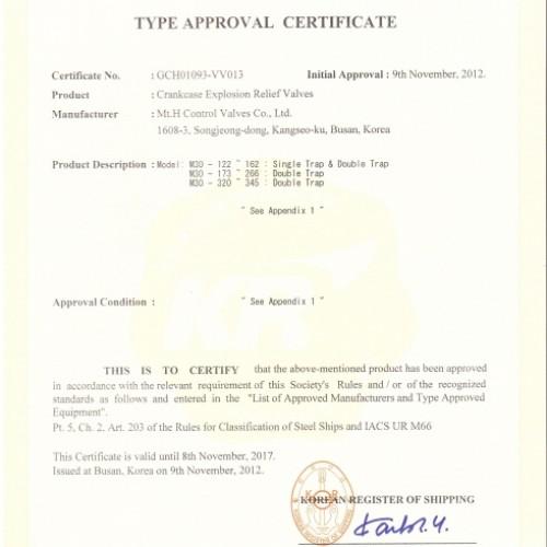 10. Type Approval Certificate -KR-M30