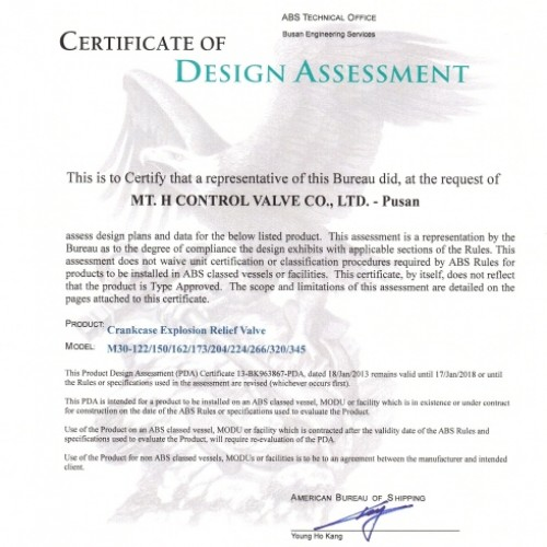 14. Certificate of Design Assessment -ABS-M30