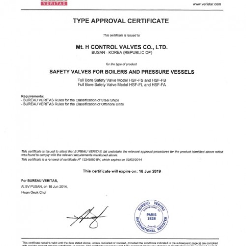17. Type Approval Certificate -BV-HSF