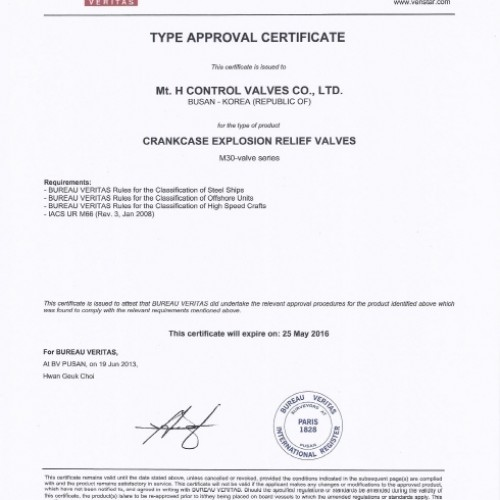 18. Type Approval Certificate -BV-M30