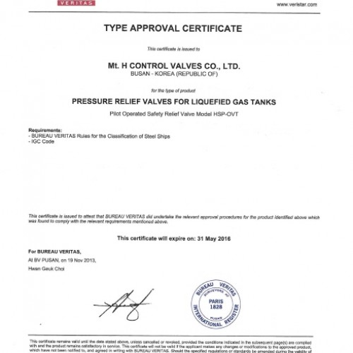 20. Type Approval Certificate -BV-PSV