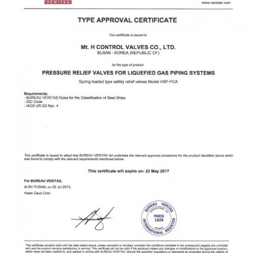 21. Type Approval Certificate -BV-TSV