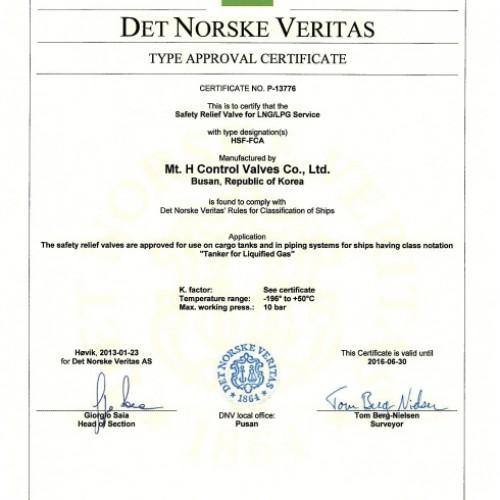 25. Type Approval Certificate -DNV-TSV